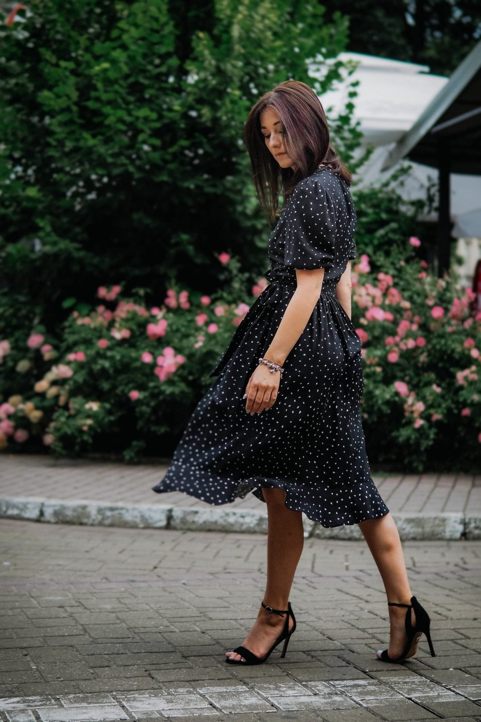 Sukienka NINA BLACK SPOT MIDI