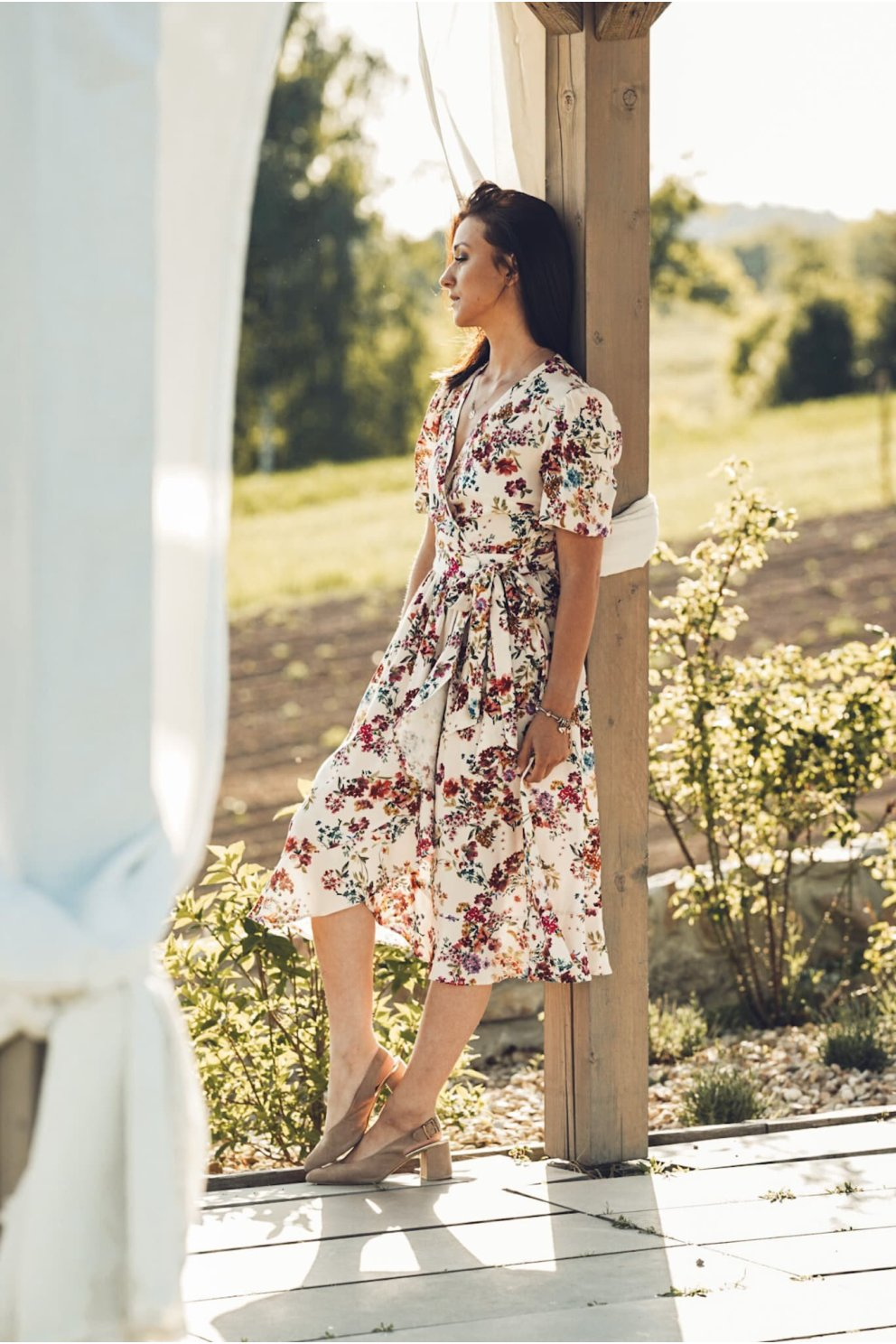 Sukienka NINA WHITE FLOWER...