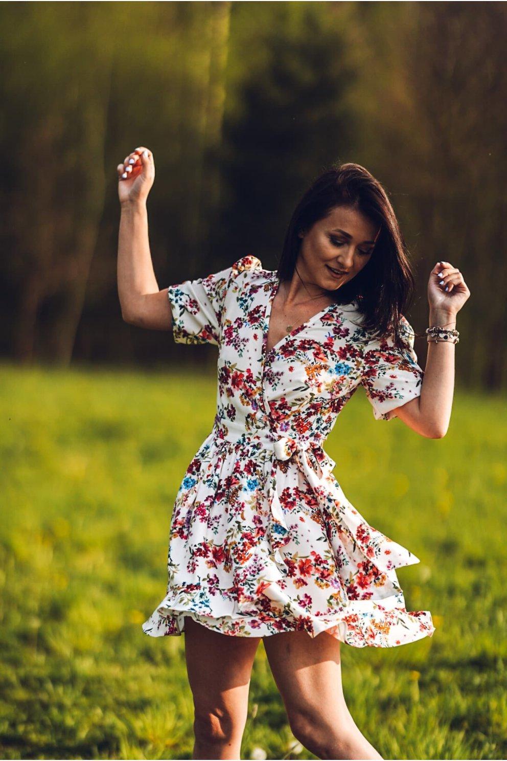 Sukienka NINA WHITE FLOWER
