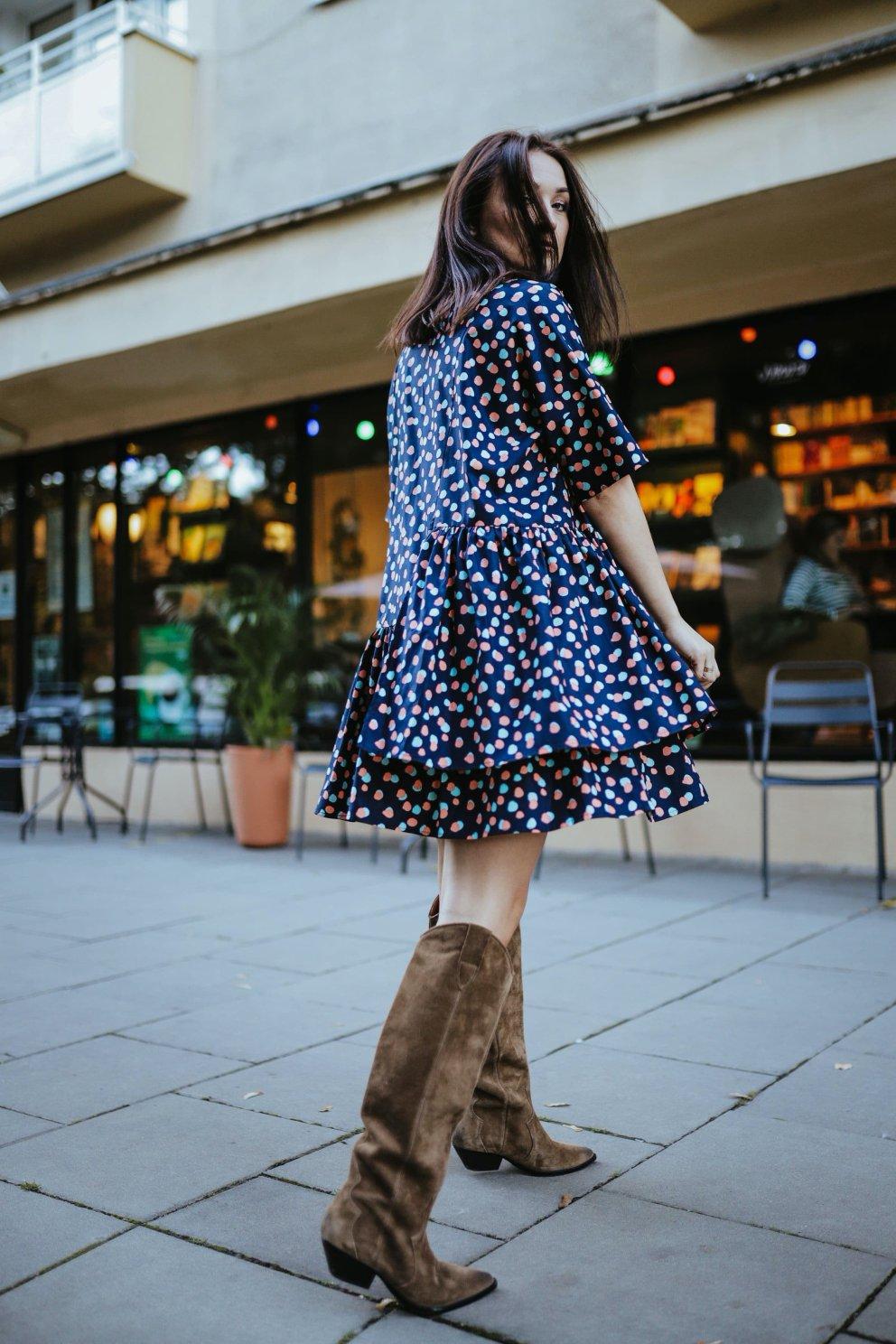 Naree Sukienka POPPY BLUE DOTS