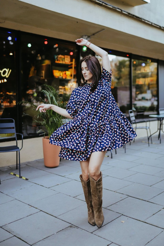Sukienka POPPY BLUE DOTS3