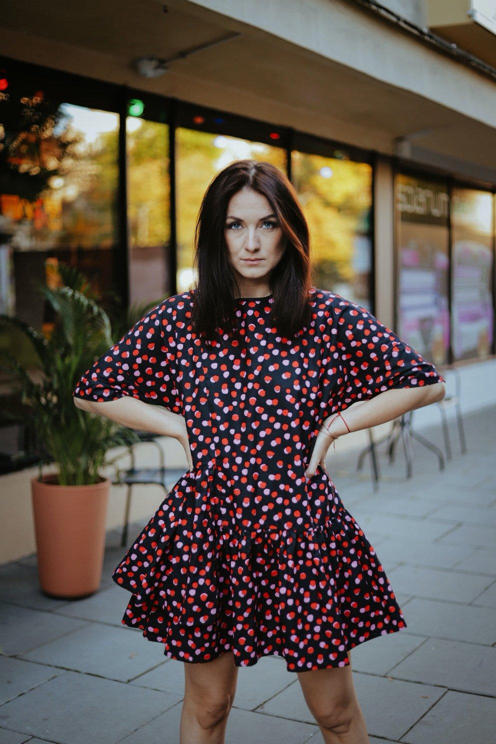 Sukienka POPPY RED DOTS
